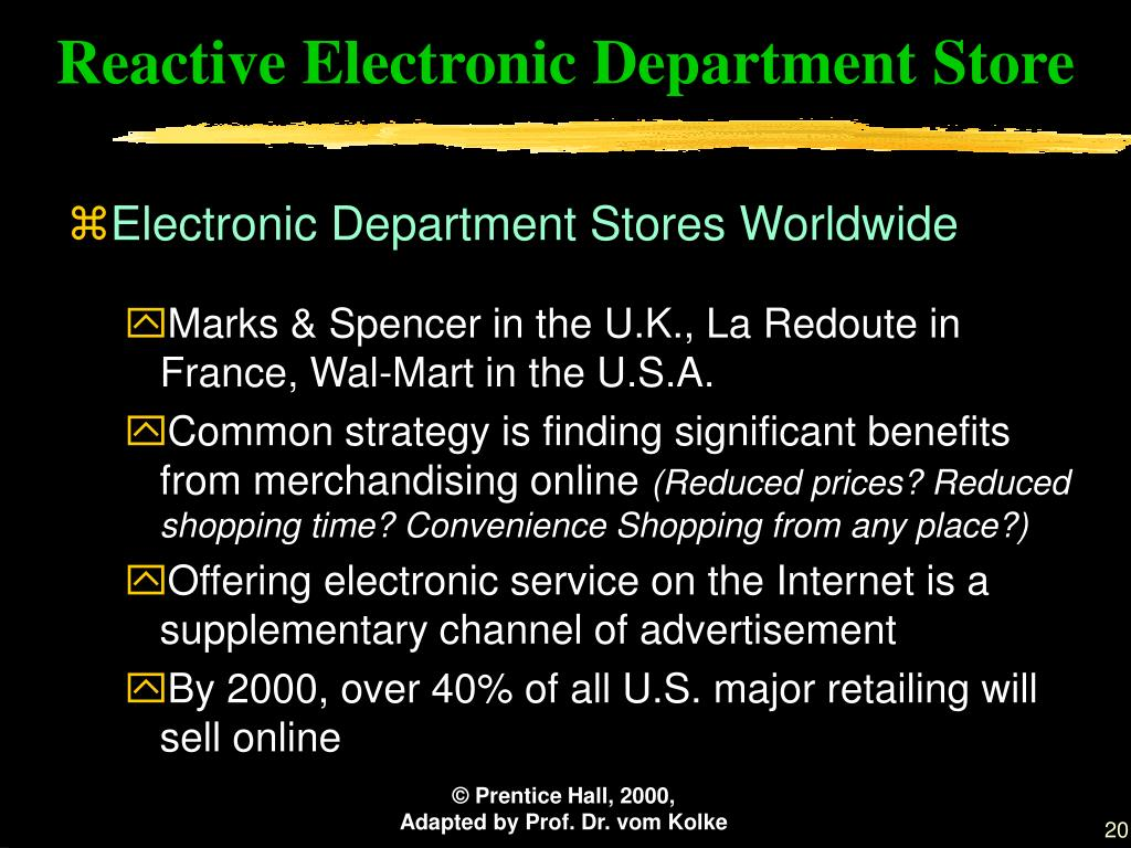 Reactive Electronic Department Store