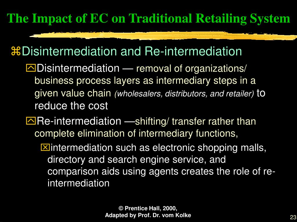The Impact of EC on Traditional Retailing System