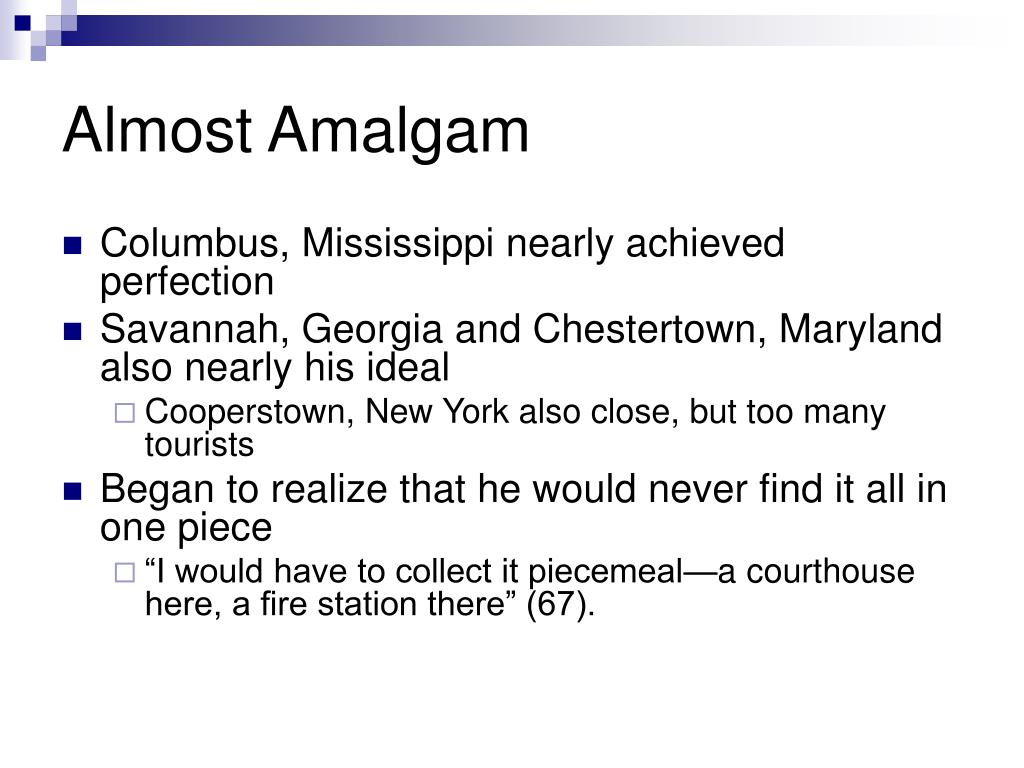 Almost Amalgam