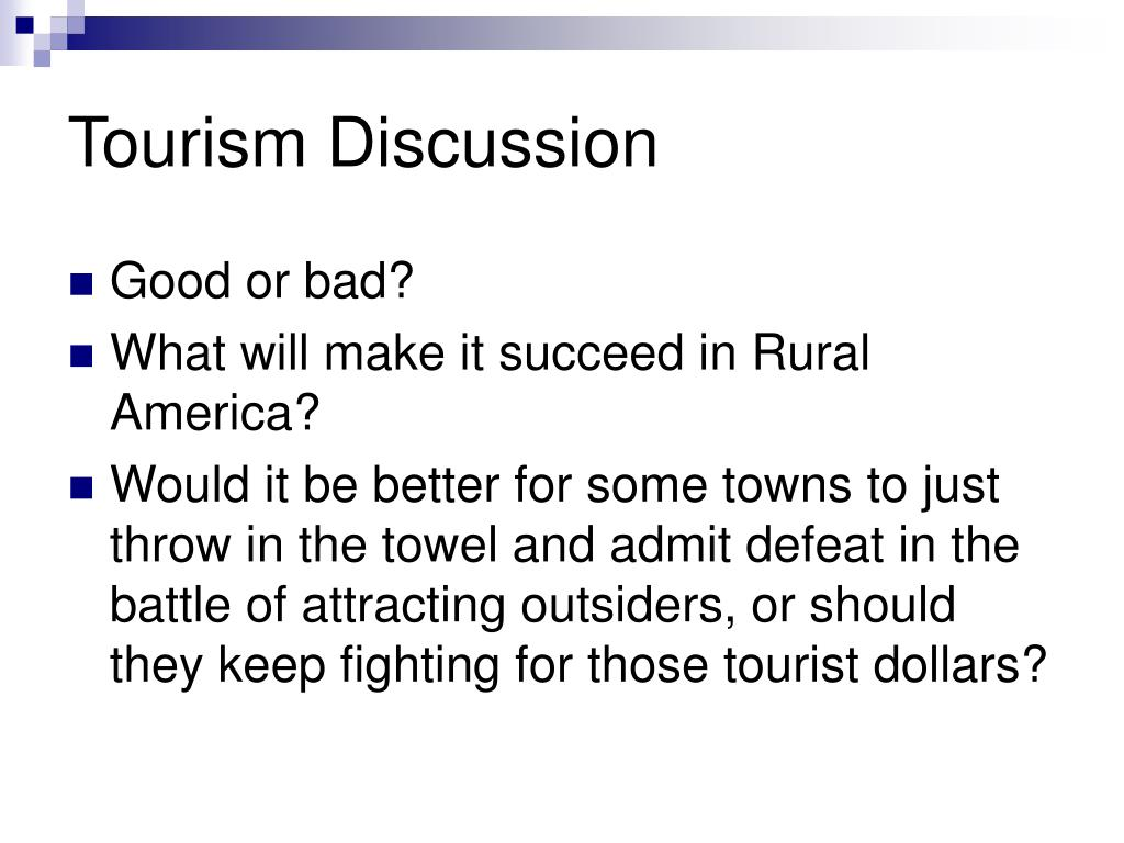 Tourism Discussion