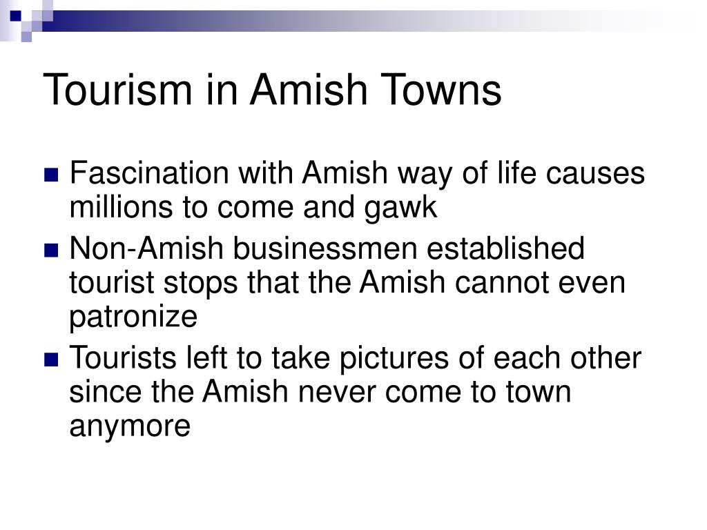 Tourism in Amish Towns