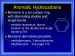 aromatic hydrocarbons42