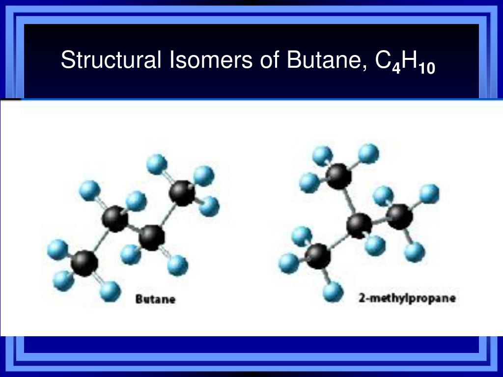 Structural Isomers of Butane, C