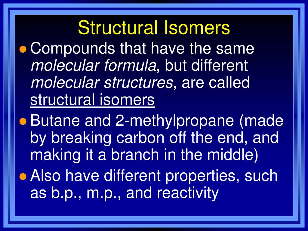 Structural Isomers