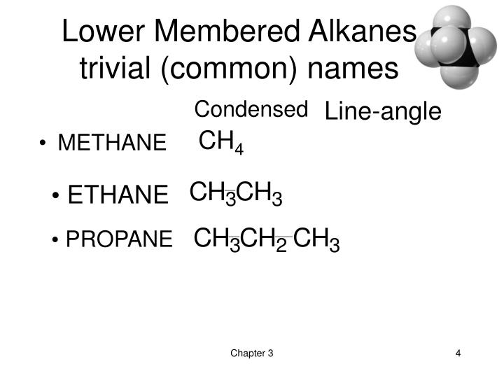 Lower Membered Alkanes