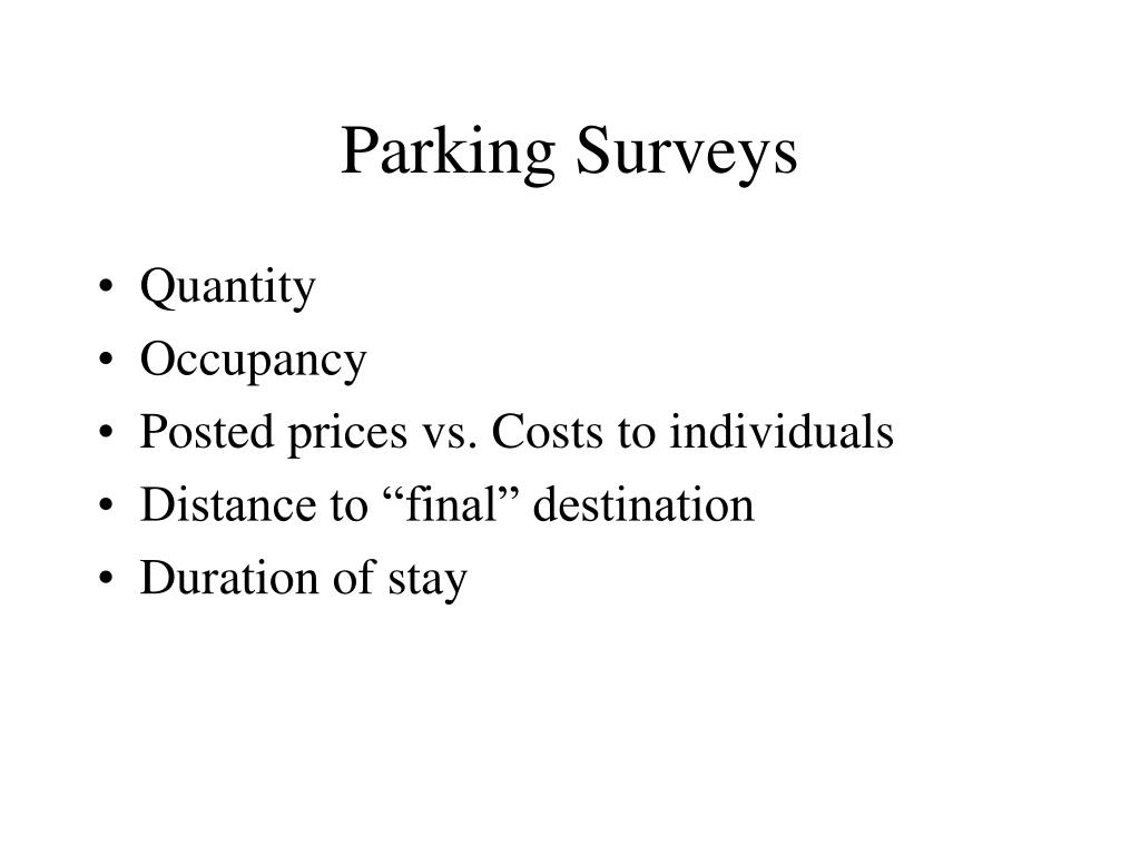Parking Surveys