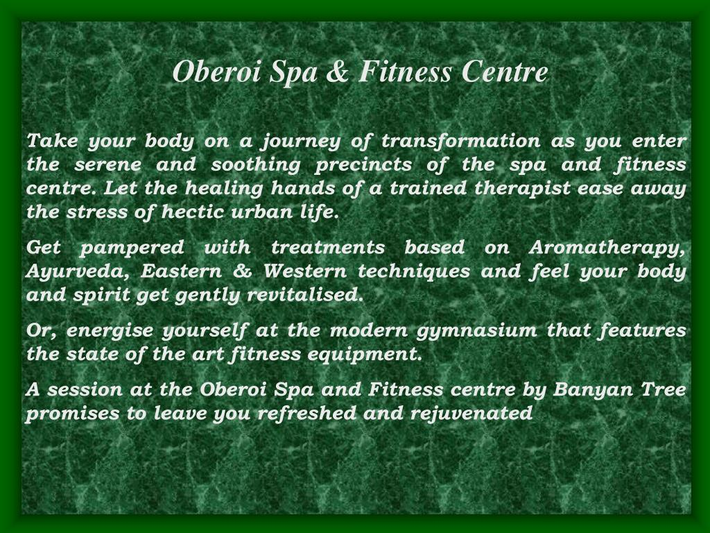 Oberoi Spa & Fitness Centre