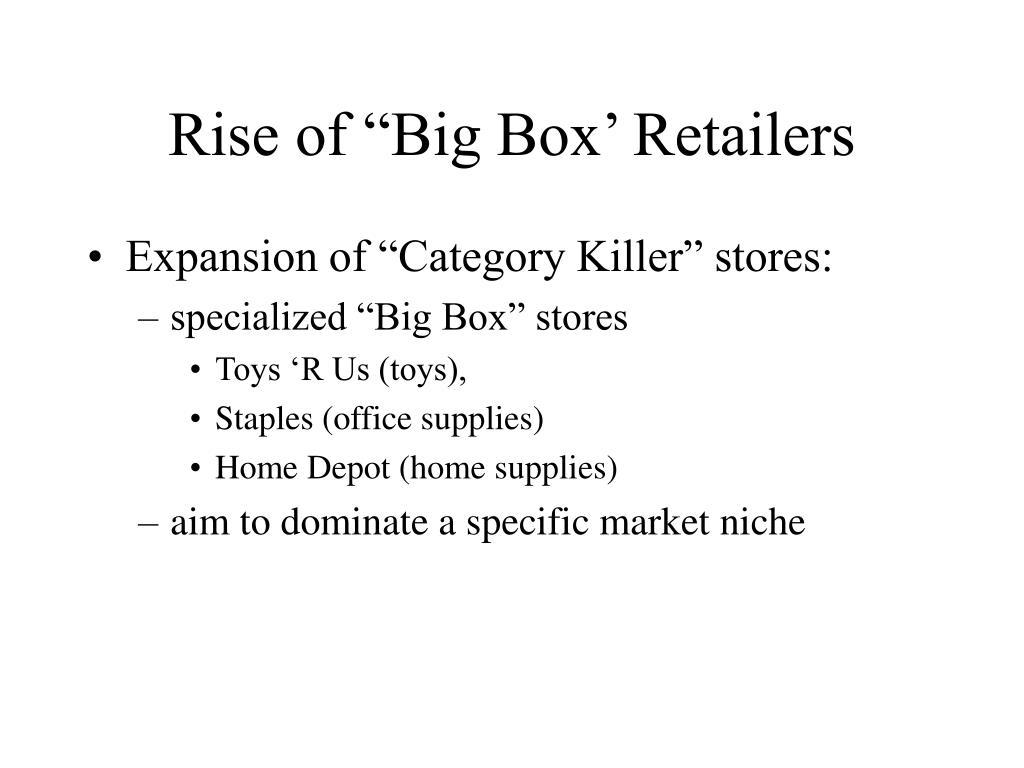 "Rise of ""Big Box' Retailers"