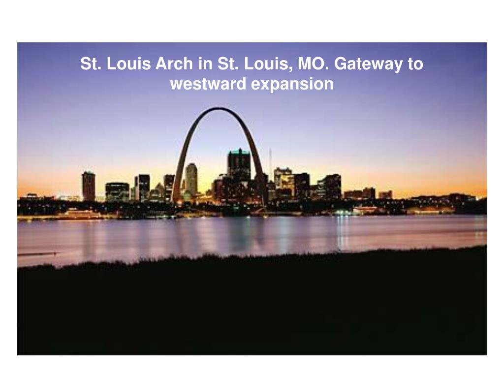 St. Louis Arch in St. Louis, MO. Gateway to westward expansion