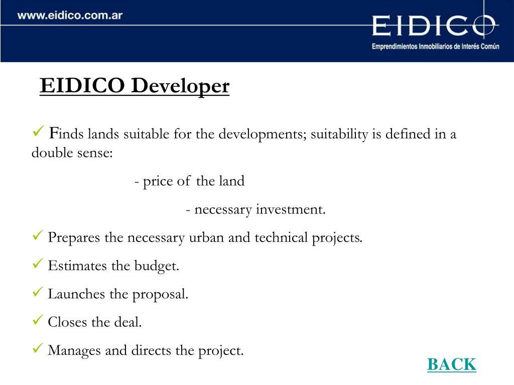 EIDICO Developer