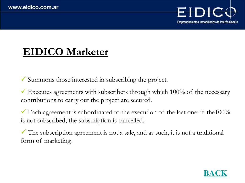 EIDICO Marketer