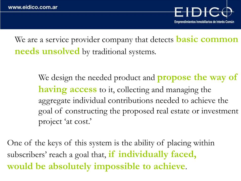 We are a service provider company that detects