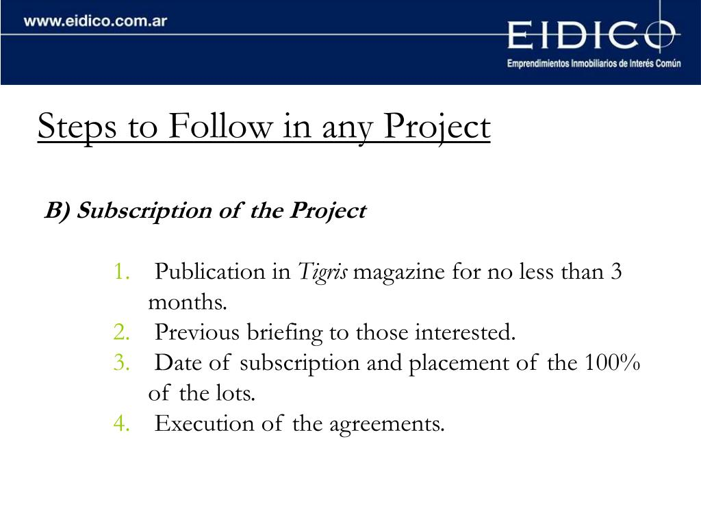 Steps to Follow in any Project