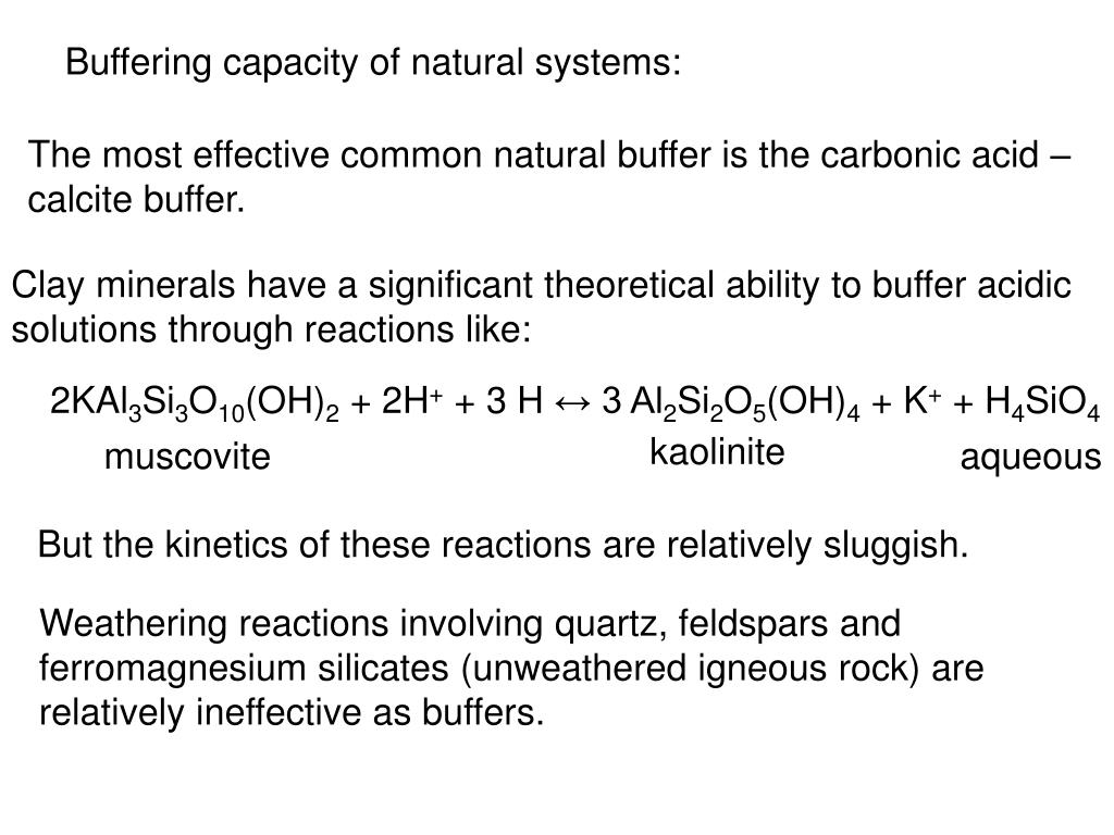 Buffering capacity of natural systems: