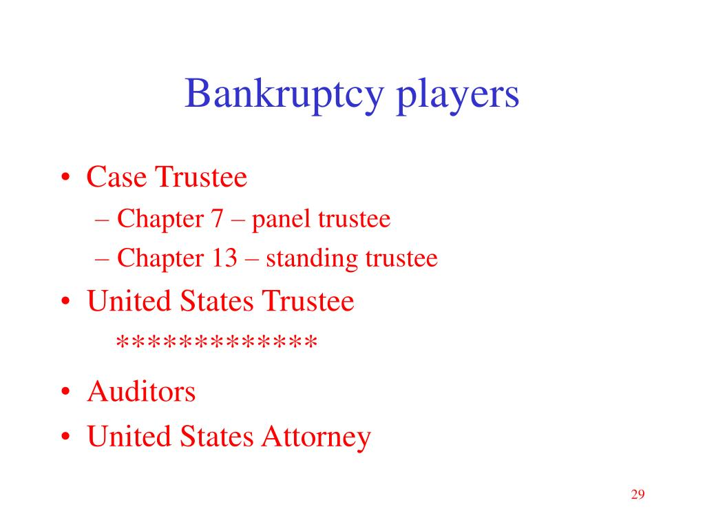 Bankruptcy players