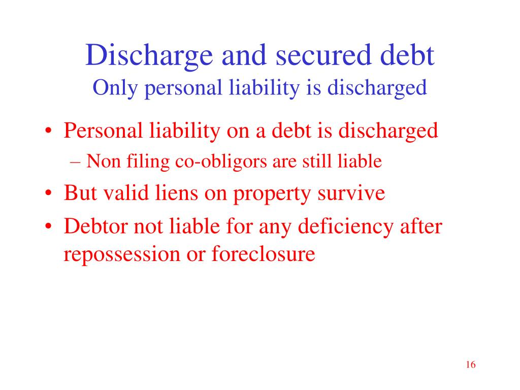 Discharge and secured debt