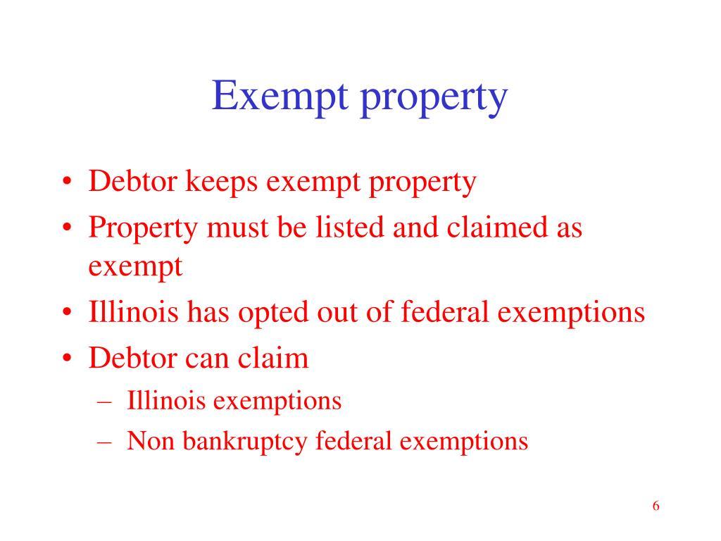 Exempt property