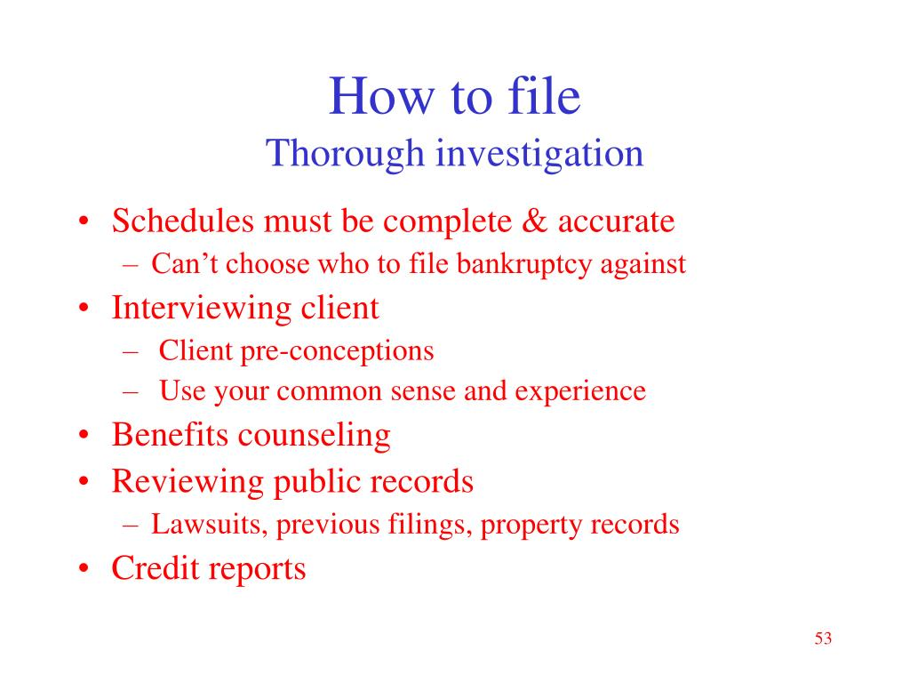 How to file