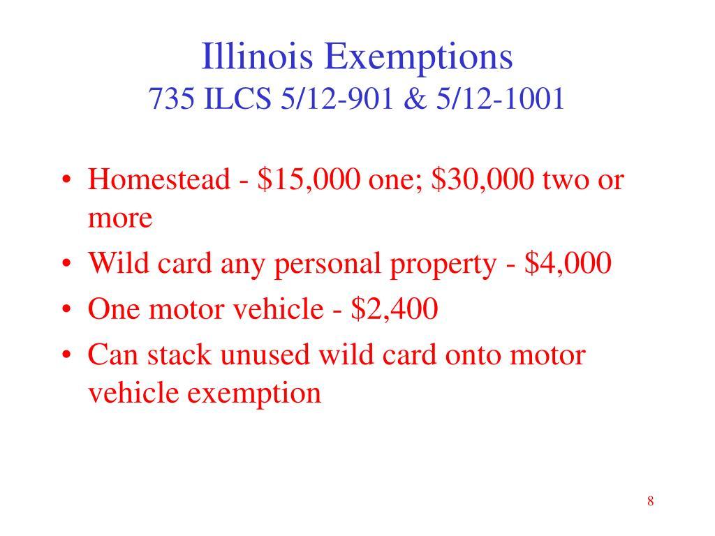 Illinois Exemptions