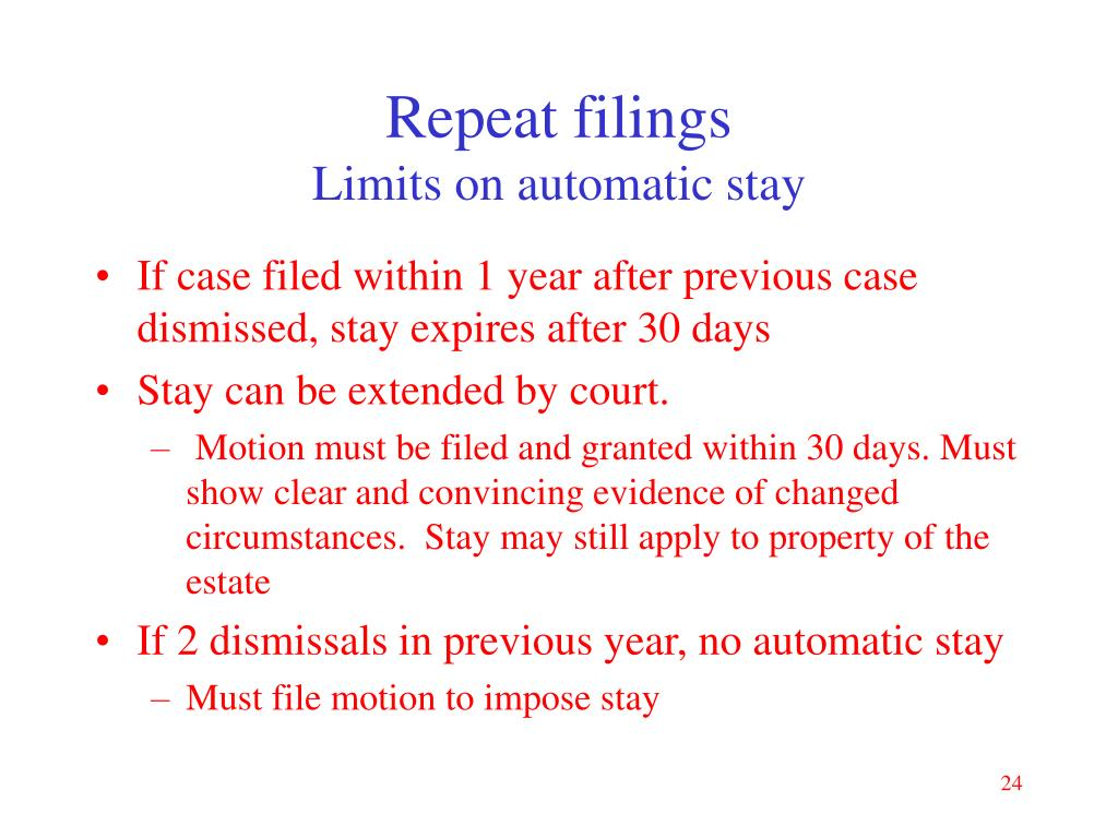 Repeat filings