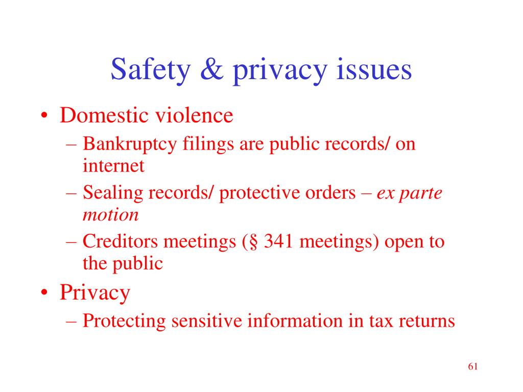 Safety & privacy issues