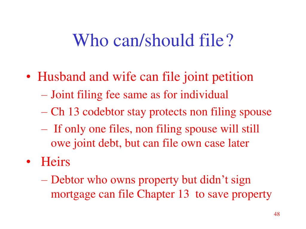 Who can/should file?