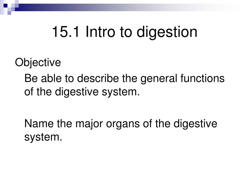 15.1 Intro to digestion
