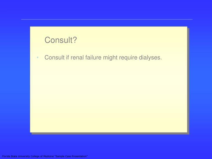 Consult?