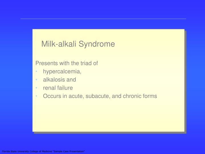 Milk-alkali Syndrome