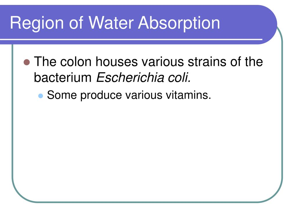 Region of Water Absorption