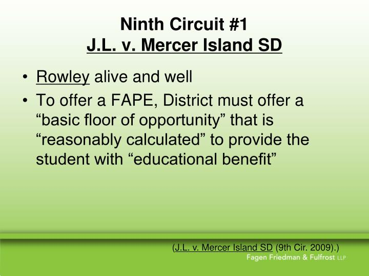 Ninth circuit 1 j l v mercer island sd