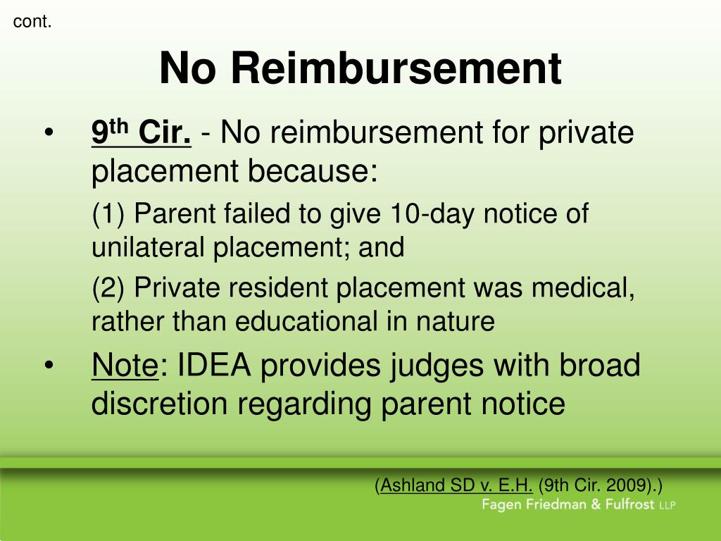 No Reimbursement
