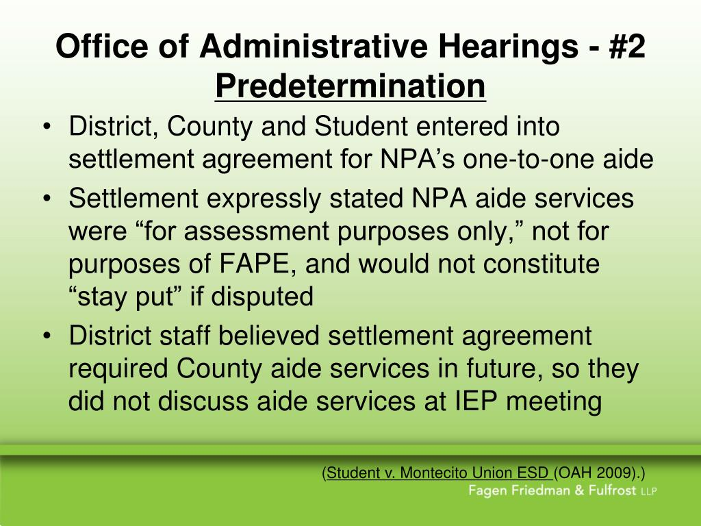 Office of Administrative Hearings - #2