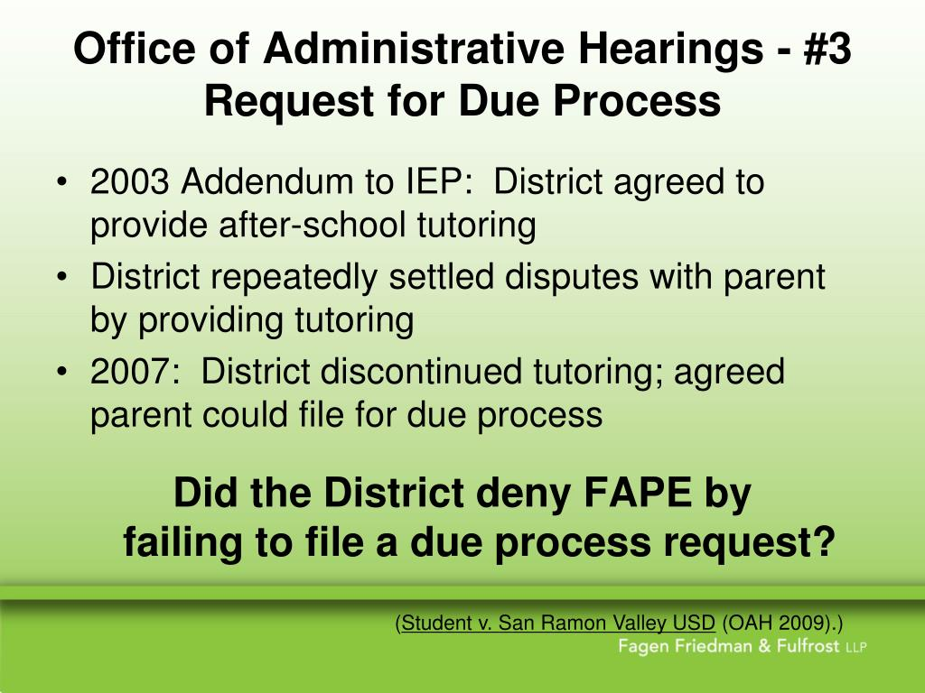 Office of Administrative Hearings - #3