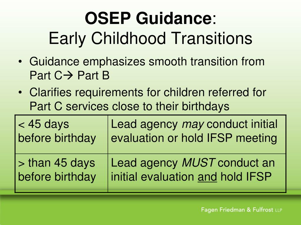 OSEP Guidance