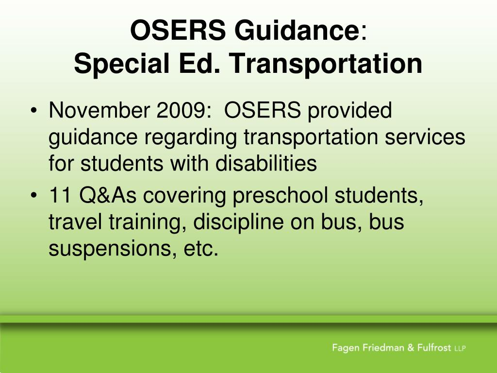 OSERS Guidance