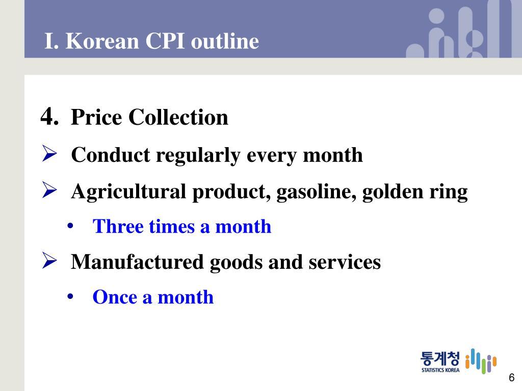 I. Korean CPI outline