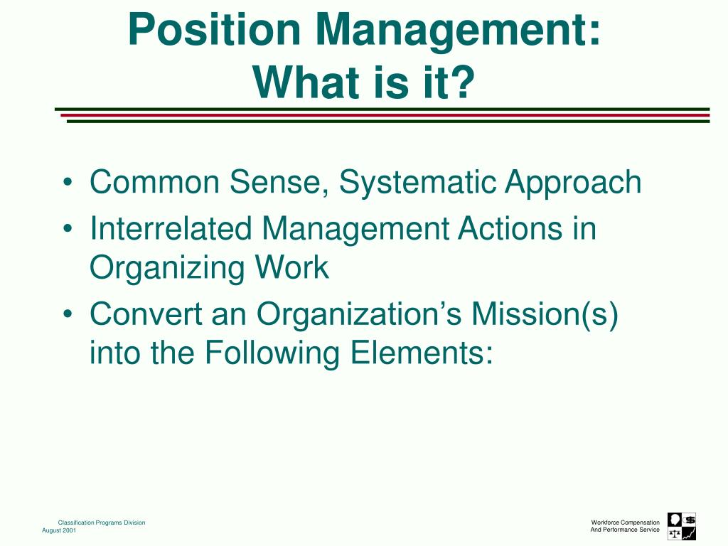 Common Sense, Systematic Approach
