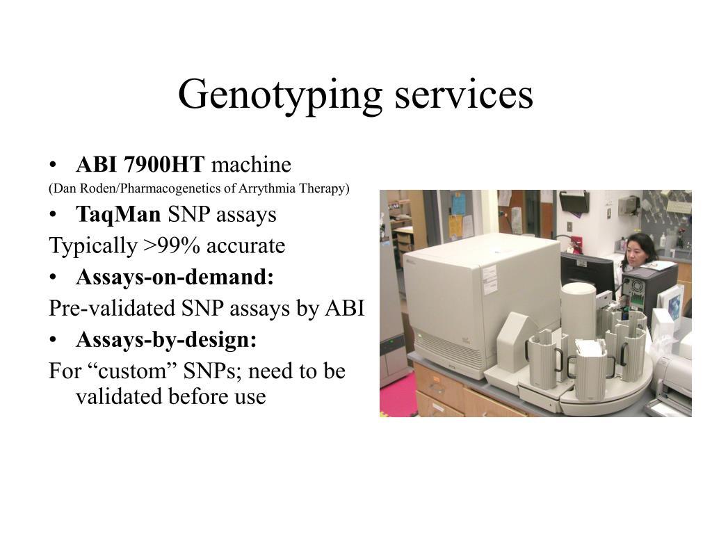 Genotyping services