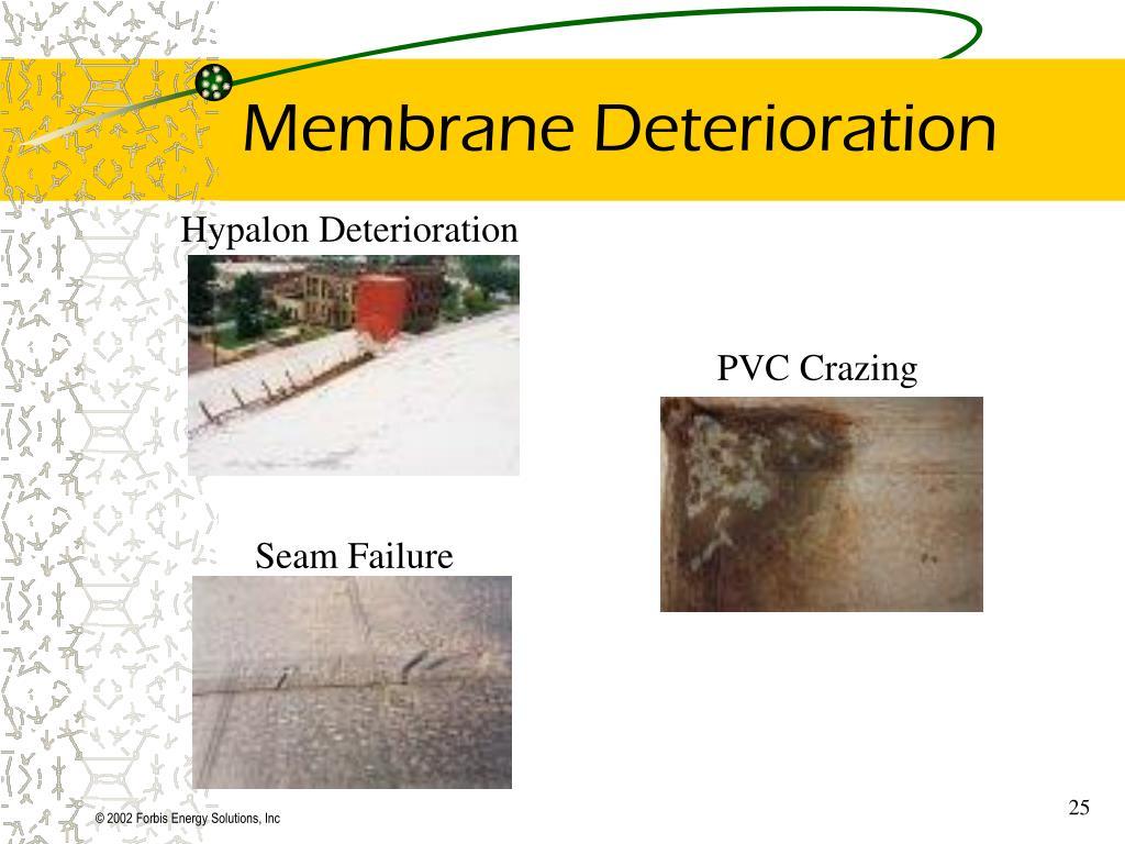 Membrane Deterioration