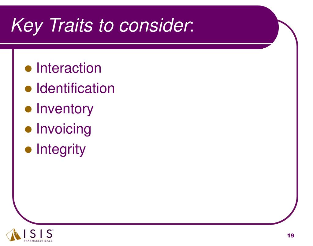 Key Traits to consider