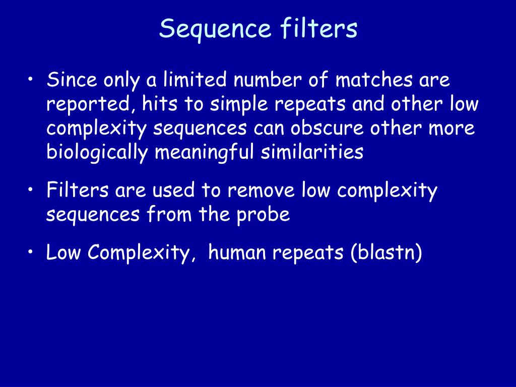 Sequence filters