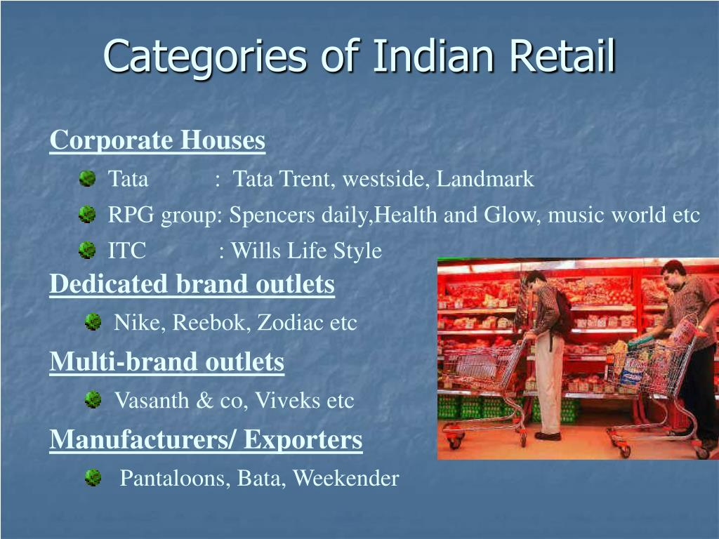 Categories of Indian Retail