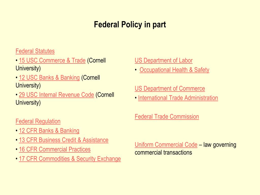 Federal Statutes
