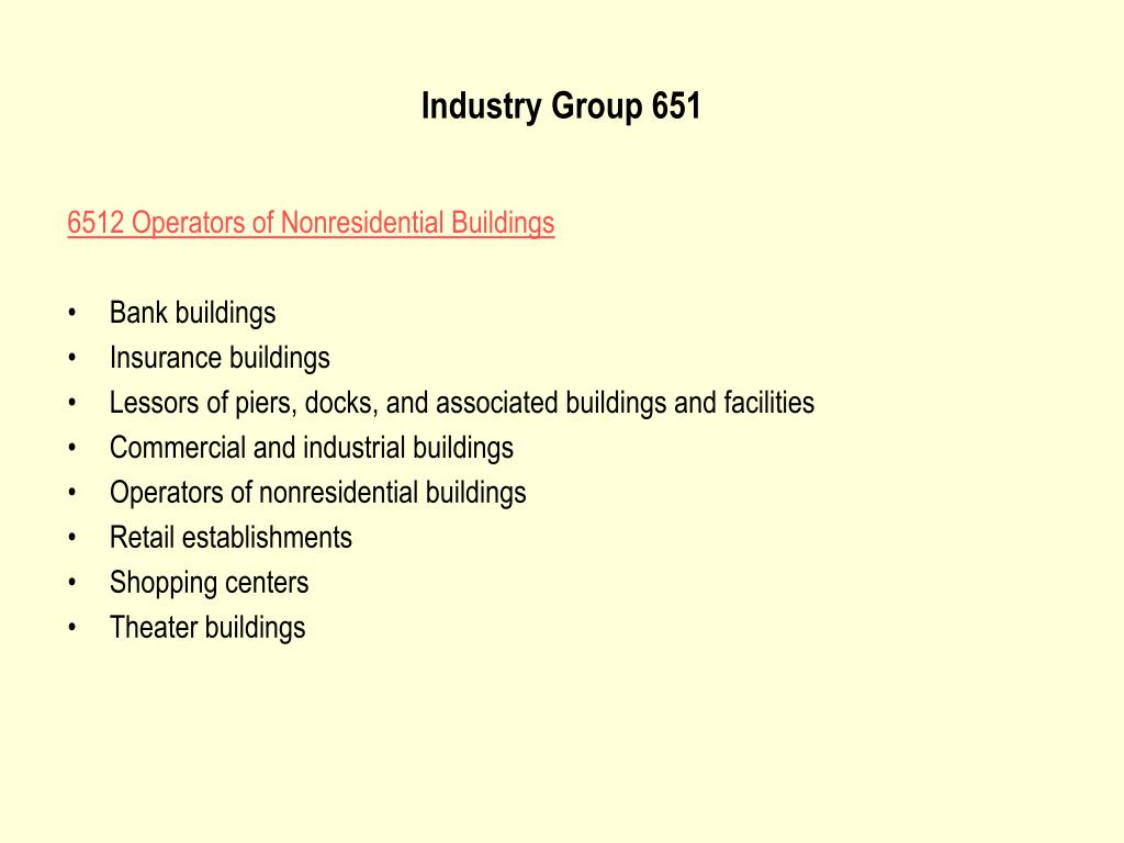 Industry Group 651
