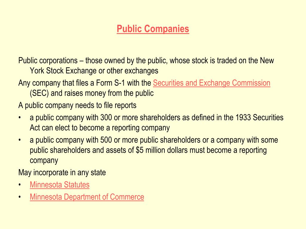 Public Companies