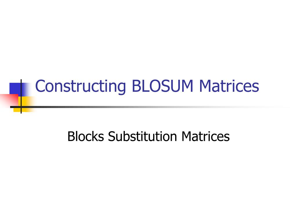 Constructing BLOSUM Matrices