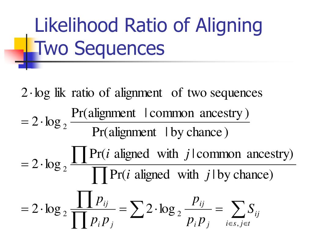 Likelihood Ratio of Aligning