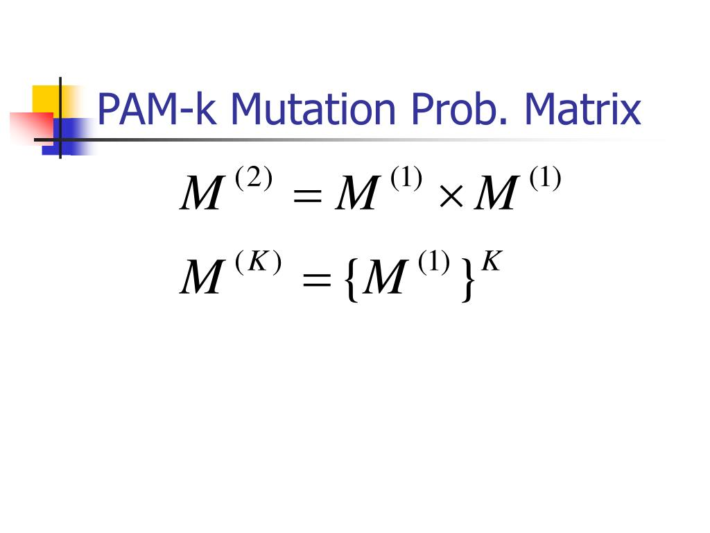 PAM-k Mutation Prob. Matrix