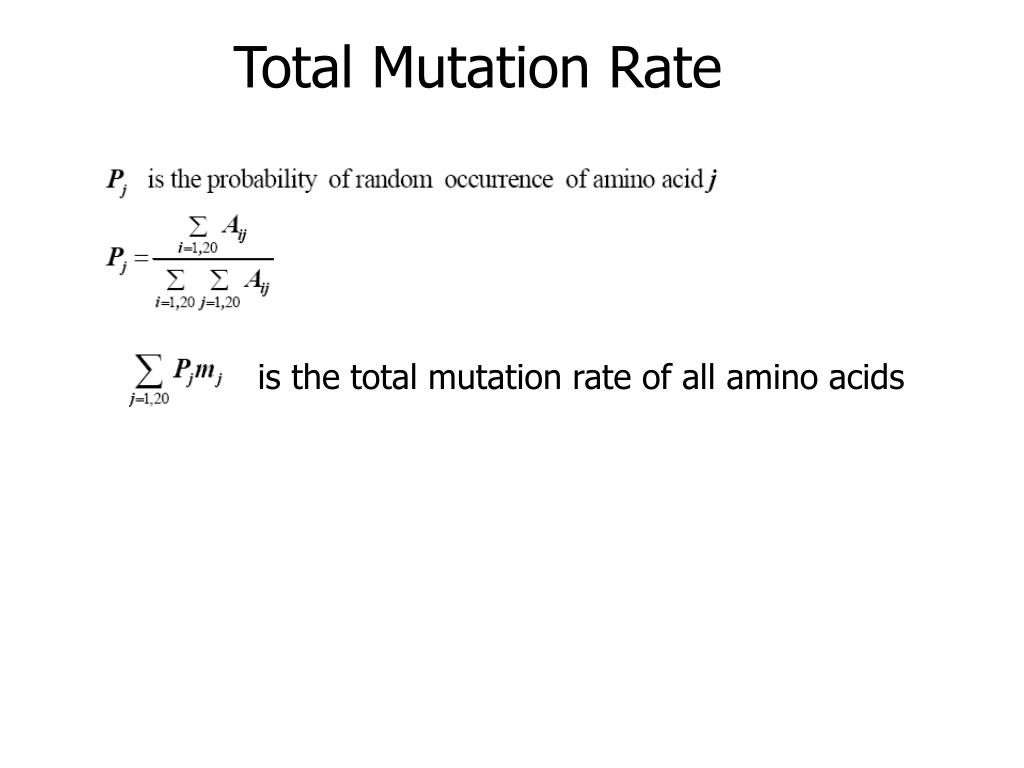 Total Mutation Rate